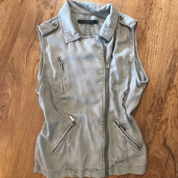 Max Jeans Jackets & Blazers - Casual vest in gray from Max Jeans. Sz M